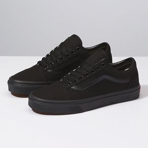 NIB Vans Canvas Old Skool Black Low-top Sneaker